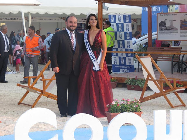 Miss World Chile 2016 - Antonia Figueroa at the opening of Expo Coquimbo Region