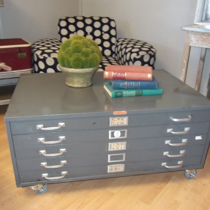 Funky Coffee Tables: Ms. Funky Junk: Industrial Chic Map Coffee Table SORRY