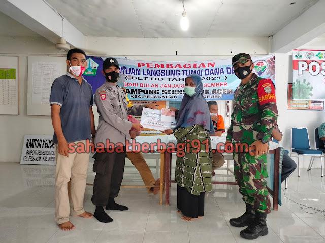 Penyaluran BLT DD Tahap Empat Tahun 2021 Desa Seuneubok Aceh