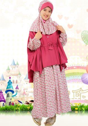 Baju Muslim Anak Aini untuk anak perempuan