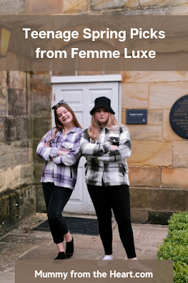 Twin teen girls wearing new clothes trends for Spring 2021 from Femme Luxe