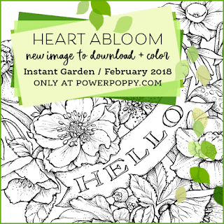 Power Poppy, Marcella Hawley, Heart Abloom, Instant Garden Release, February 2018