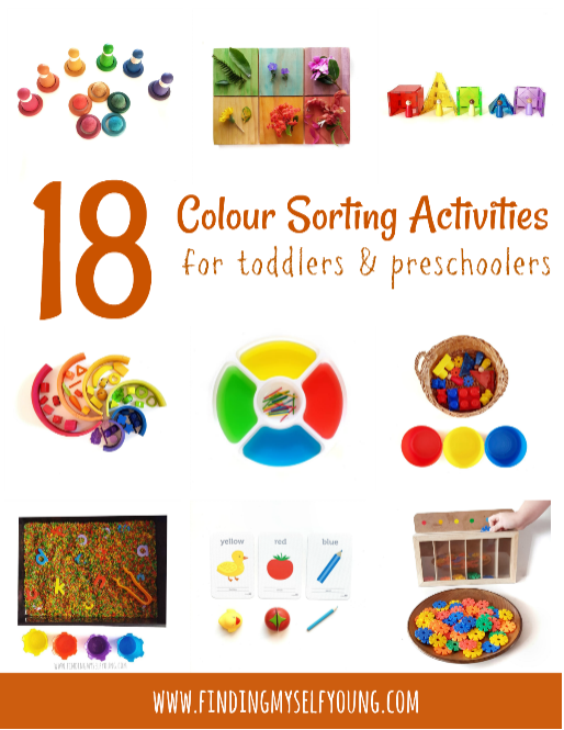 18 Colour Sorting Activities For Toddlers Finding Myself Young
