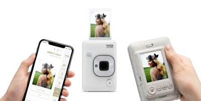 Stone White Instax Mini LiPlay