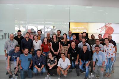 Profissionais envolvidos na cobertura de verão integrada do Grupo RBS. Crédito: Pietro Pasqualotti