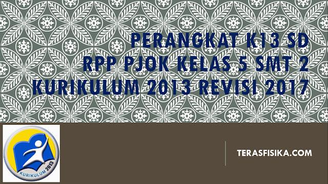 RPP PJOK SD/MI Kelas 5 Kurikulum 2013 Revisi 2017
