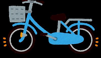 空気の入った自転車のタイヤのイラスト