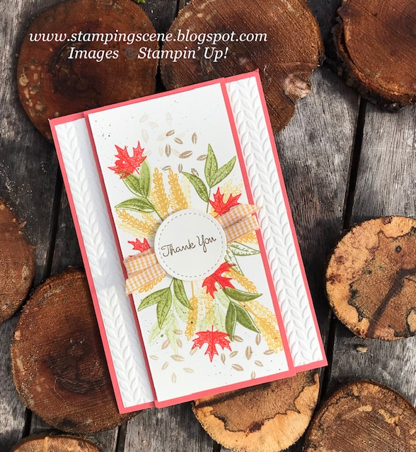 Beautiful Autumn card using the bundle from stampin up with zoe tant uk demo