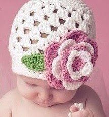 Free Crochet Baby cluster hat pattern