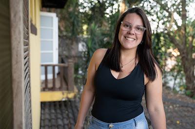 Natália Mendonça tem 28 anos e está desempregada - Crédito: Ricardo Carvalheiro / Endemol Shine Brasil
