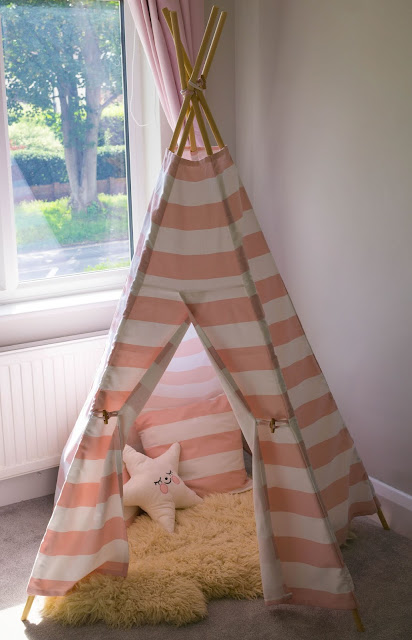 DIY teepee tutorial cotton canvas-1