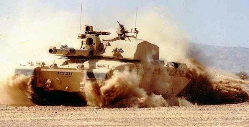Challenger 2 di gurun pasir