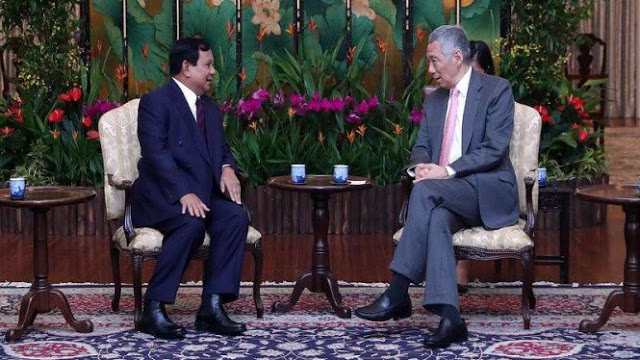 PM Singapura Doakan Prabowo untuk Pilpres 2019