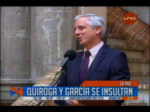 JORGE TUTO QUIROGA Y ÁLVARO GARCÍA LINERA SE INSULTAN POR TV