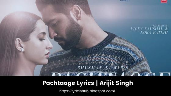 Pachtaoge Lyrics  Arijit Singh (lyricishub)