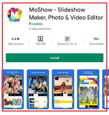 photo video maker with song app download