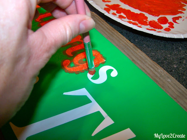 using a cricut to make stencils for painting signs