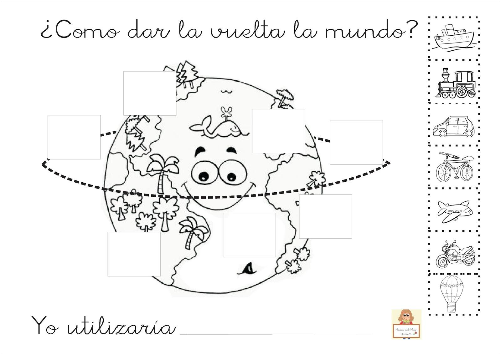Proyecto La Vuelta Al Mundo Fichas Para Imprimir