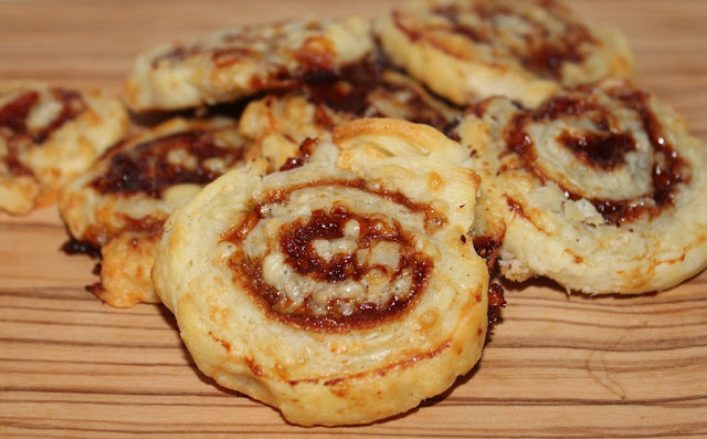 cheese and marmite pinwheels