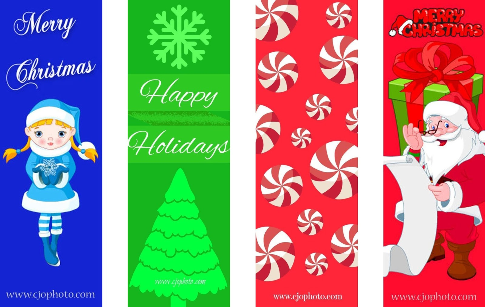 photo about Printable Christmas Bookmarks named CJO Picture: Printable Bookmarks: Xmas