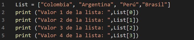 Cómo Utilizar Listas en Python leer datos