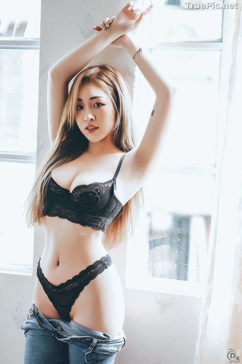 Image Vietnamese Model - Sexy Angel In Black Lingerie and Jean - TruePic.net - Picture-4