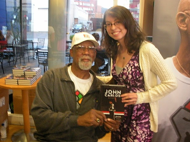 Meeting former track star John Carlos, famous for the black power salute in Mexico City 1968