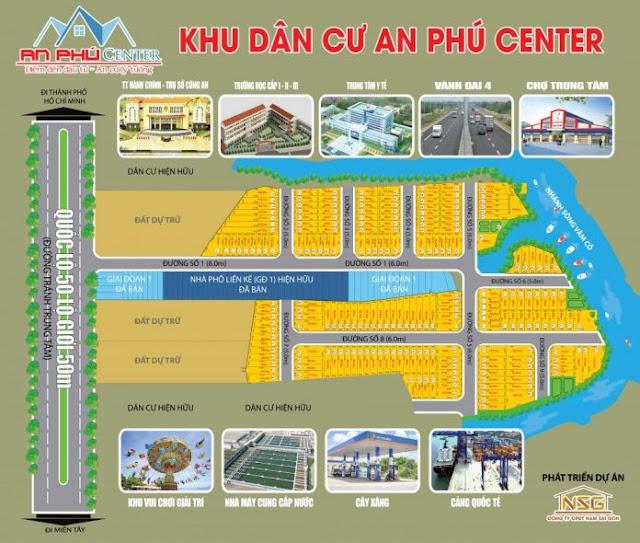 dự án đất nền nhà phố an phú center
