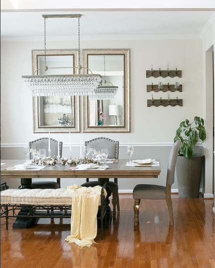 Two-Colored Dining Room with Chair Rail
