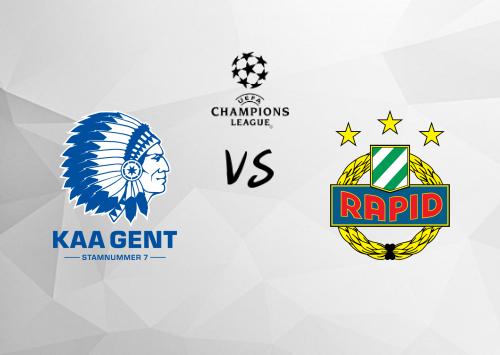 Gent vs Rapid Viena  Resumen