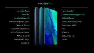 Oppo Reno and Oppo Reno 10X Edition Smartphone launches in India