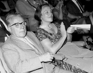 Togliatti with his partner, Nilde Iotti, at a Communist Party conference in Russia, which they visited many times