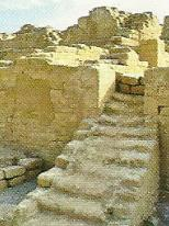 Foto de escalera, arquitectura de la cultura Chincha