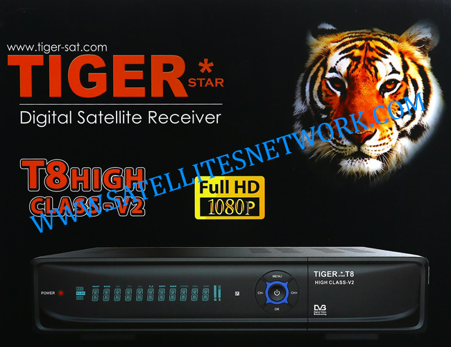 TIGER T8 HIGH CLASS V2 HD RECEIVER ALL VERSION SOFTWARE 2021