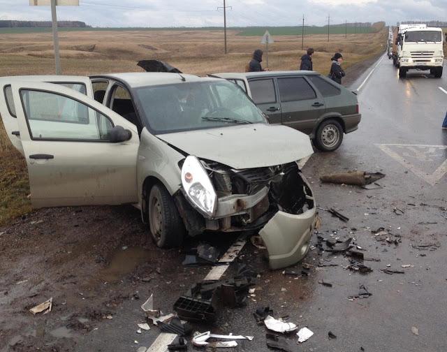 В Башкирии на трассе произошло массовое ДТП