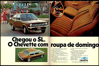 propaganda Chevette SL - 1975. brazilian advertising cars in the 70. os anos 70. história da década de 70; Brazil in the 70s; propaganda carros anos 70; Oswaldo Hernandez;