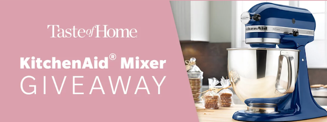 Taste Of Home will be awarding FIVE lucky winners with their very own KitchenAid Artisan Series 5 Quart Tilt-Head Stand Mixer that is worth nearly $400!