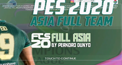 FTS 2020 Mod PES 2020 Full Asia 2020