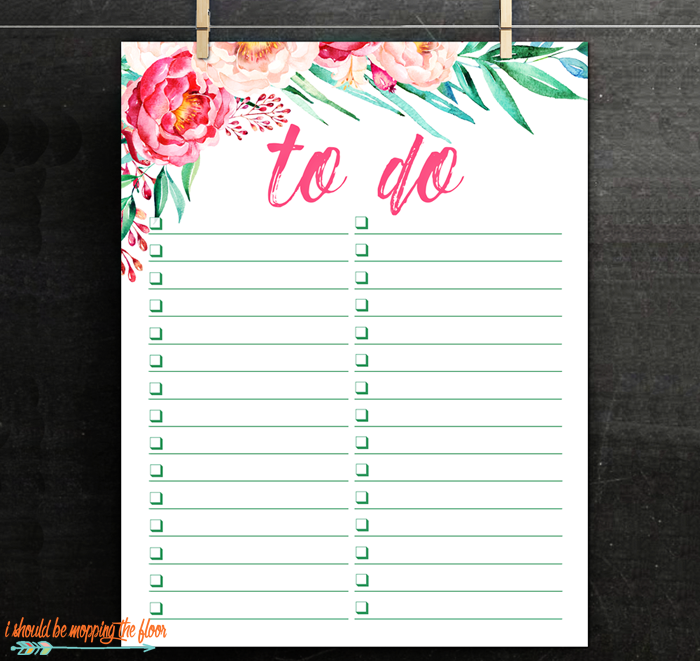Simple To Do List Printable