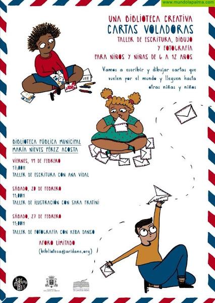 """El taller de """"Cartas Voladoras"""" enseñara a los más pequeños a escribir misivas que serán enviadas a niños y niñas de otros municipios"""
