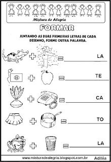 Formando palavras com sílabas inciais