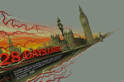 28 Days Later Movie Poster Variant Screen Print by Mike Saputo x Grey Matter Art