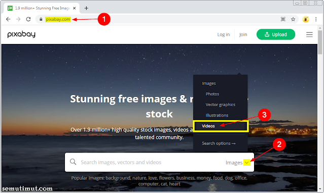cara download video dari pixabay