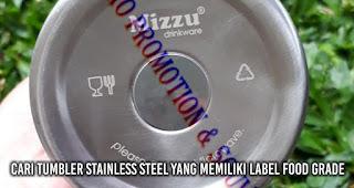 Cari Tumbler Stainless Steel yang memiliki label Food Grade
