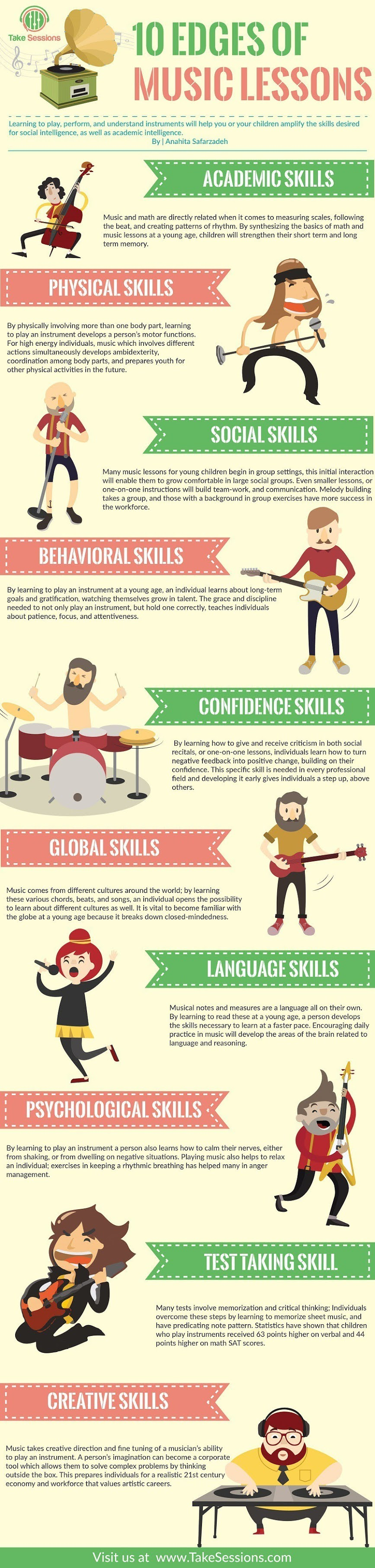 10 Edges of Music Lessons #infographic