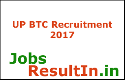 UP BTC Recruitment 2017