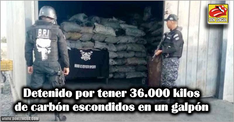 Detenido por tener 36.000 kilos de carbón escondidos en un galpón