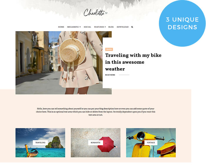 Charlotte is a Responsive Multipurpose Blogger Template Free Download Charlotte Blogger Template