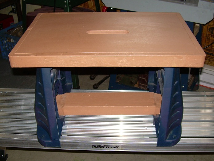 And since I donu0027t like to throw anything out the removed plastic table stands were turned into a solid little step stool to reach the top of my bookshelves. & Hobby Workshop Projects: step stool islam-shia.org
