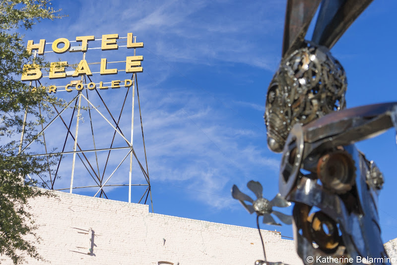 Hotel Beale and Running Hare Route 66 Things to Do in Kingman Arizona
